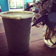 A tried favorite of our customers is to get the Superfood Soup blended and sip it with a straw as a delicious savory nutrient packed energy  smoothie rich in detox properties with cucumber, watercress, coconut, turmeric, cilantro, avocado, flax oil, garlic and cayenne
