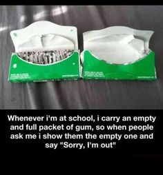 Life Hacks for Teenagers | The Solution To Chewing Gum And School