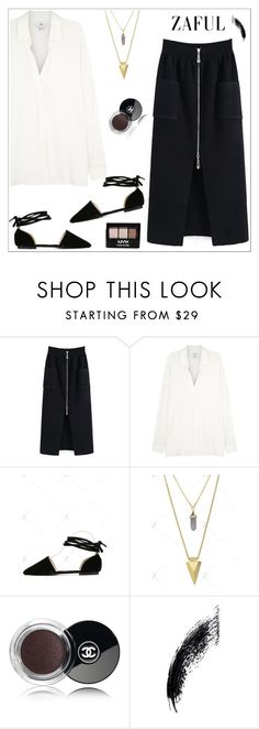 """""""Zaful 23"""" by sabinakopic ❤ liked on Polyvore featuring Vince, Chanel and NYX"""