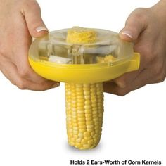 Corn Kerneler Enjoy fresh corn without the mess of eating from the cob. With this Corn Kerneler, you can easily remove corn kernels from the cob in one quick Kitchen Tools And Gadgets, Cooking Gadgets, New Gadgets, Cool Gadgets, Cooking Hacks, Kitchen Utensils, Kitchen Dining, Kitchen Appliances, Baking Utensils