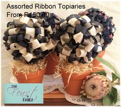 Collections Ribbon Topiary, Table Settings, Decorations, Collections, Table Top Decorations, Dekoration, Place Settings, Decor, Decoration