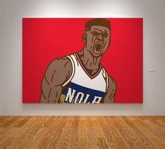 ba057a5c17e74c Zion Williamson New Orleans Pelicans NOLA NBA Basketball Printable Print  Wall Art Poster Artwork Digital Download Illustration