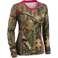 Womens Skill Shot Mossy Oak Camo Performance Shirt at Legendary Whitetails Womens Hunting Gear, Mossy Oak Camo, Country Girls Outfits, Camo Outfits, Camo Baby Stuff, Camo Shirts, Pink Camo, Under Armour, Cowgirl Fashion