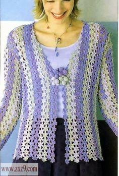 crochet jacket made of flower pattern