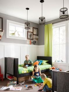 Inexpensive kids room using furnishings from Ikea and Target.