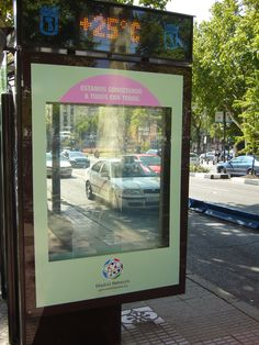 DreamGlass® advertising solutions Interactive Privacy Glass marketing campaign for bus stops, Spain