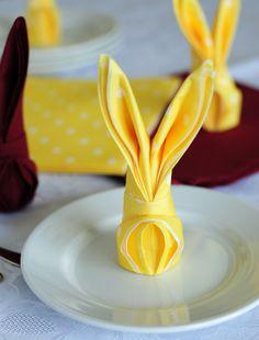 How to make bunny napkins