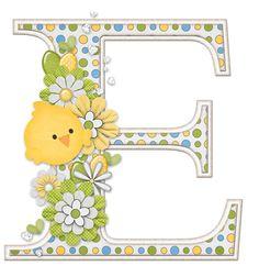 CH.B *✿* Primaveral con flores , patitos y huevos de Pascua.....E
