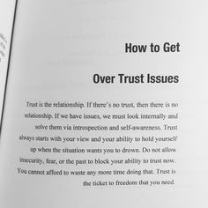 """""""An excerpt from my book, Dear Soul: Love After Pain. If you have trust issues, order the hook, it'll heal. Click the link in my bio to get yours."""" - A relationship will never survive without trust. Not pretend trust, but real trust in your partner. The Words, Cool Words, Trusting Again, Quotes To Live By, Quotes About Trust, Relationship Trust Quotes, Relationship Issues, Never Trust Quotes, Broken Trust Quotes"""