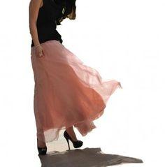 Romantique Big Flare Jupe -rose clair  : Jupe par buuki