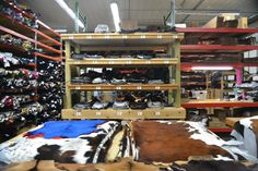 A view from the front of our store facing to the back including our shipping table. www.theleatherguy.org