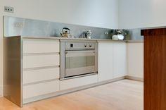 Clapham London Custom Kitchen white melamine faced birch plywood