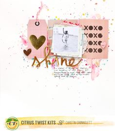 Shine February 2015 Love Letters Main Kit