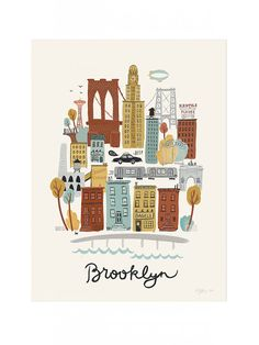 Brooklyn Neighborhood Poster Print