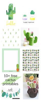 Round-up of free cactus downloads: 1 Free printable cactus wall art from classy clatter. 2 Free printable cactus garland from seldeviking. 3 Free printable cactus pattern paper from zakkalife. 4 Fre