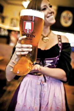 The best parts of Oktoberfest is the lovely ladies and drinking out of Das Boot!