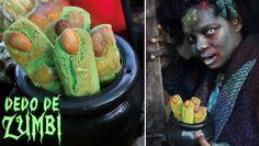 O canal SambaCooking produziu o video receita mais apavorante da internet e ensina como preparar um biscoito Dedo de Zumbi para a sua festa de Halloween.