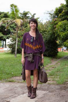 Street style SPFW Dia 4 - vestido malha