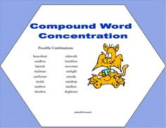 2 Concentration Games-Spelling and Compound Words grades2-3