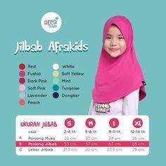 Jilbab Afrakids.  Berbahan cotton spandex single knitting (gramasi 170-190 gr/m²)  Saat ini, ada 11 pilihan warna yang colorful untuk anak-anak. Sehingga mereka terlihat lebih ceria dan juga salihah 😊  .  Spesifikasi harga (rekomendasi untuk pulau jawa) :  S : Rp 57.000  M : Rp 57.000  L : Rp 63.000  XL : Rp 63.000  .  Yuk, dapatkan sekarang juga di Agen atau Reseller Afrakids terdekat di kotamu! 😊 #AfrakidsGirlSeries Lavender, Mint, Knitting, Instagram Posts, Cotton, Tricot, Breien, Stricken, Weaving