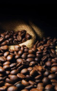 Brown coffee beans - can you smell it?