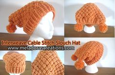 This tutorial teaches you how to do the Interweave Cable stitch in the round. Make hats for Otis and Farley?