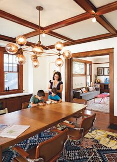 Modern Jason Miller Chandelier Meets Craftsman Interior Hot