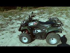 Kymco MXU 250 - ATV helmet ride - YouTube