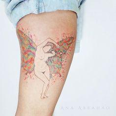 A N I M A. D A S. F A D A S -  Direto de plutão, uma Fada como nós! Obrigada Marcela pela grande luz desse projeto lindo que fala tanto sobre o feminino, de um mundo místico não muito distante.. Fada assim como nós somos..  #fadas #fairytales #fairy #tattoo #tatuagem #plutao #ink #especial #nudes #anaabrahao  #astattooistas #mistico #tattrx #t4ttoois #inspiration #inspirationtatto #tatouage