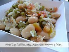 Cucinanostress : INSALATA DI FILETTI DI MERLUZZO,FAGIOLINI,POMODORI E FAGIOLI