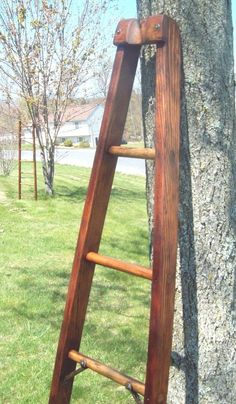 Vintage Rare Apple Orchard Ladder Refinished Ready to Ship Amazing Folk Art 6 ft