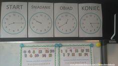 Nauka odczytywania wskazań zegara.