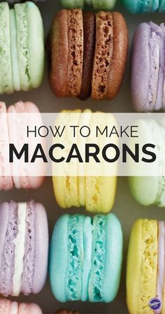 How to Make Macarons Cracked shells? Get the tips to making the perfect French Macarons whether it's your first time or time! French Macaroon Recipes, French Macaroons, Lemon Macaroons, Gluten Free Macaroons, French Macarons Recipe Flavors, Red Velvet Macaroons, Raspberry Macaroons, Italian Macarons, Fun Desserts
