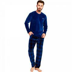 Pijama Barbati Velur, Gazzaz by Vienetta, 'Vision of the Generations' Blue Pajama Pants, Pajamas, Lady, Fashion, Pjs, Moda, Sleep Pants, Fashion Styles, Pajama
