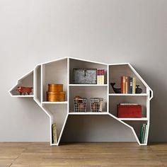Bear shaped bookcase from Restoration Hardware Baby & Child