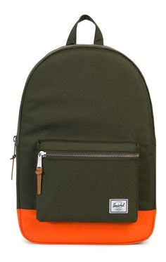 5e9a56ebd05 Herschel Settlement Backpack 600D Poly Forest Night Vermillion Orange