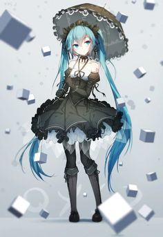 Hatsune Miku, awesome dress, I love it ❤.❤
