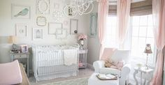 ADORABLE nursery designed by Brit Jones featuring cordless woven wood shades from Budget Blinds of SW Lubbock. www.brtijonesphotography,com