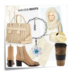 Warm winter by ledile on Polyvore featuring мода, Christian Louboutin, Paco Rabanne, Jocelyn, Uniqlo, AERIN, Free People, Post-It, Oris and Winter