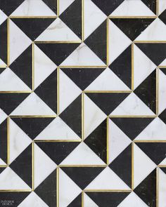 Dominion Quick-Ship collection tile in Calacatta Oro and Nero Marquina marbles with gold glass accents in Ludlow by Mosaïque Surface Informations About 8 Modular Flooring Designs Pin You can easily us Floor Design, Tile Design, Pattern Design, Floor Patterns, Tile Patterns, Tiles Texture, Stone Flooring, Ceramic Flooring, Modern Flooring