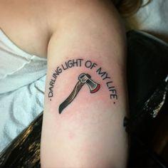 The shining Horror movie tattoo by Matt Robinson at Anchor Tattoo Vacaville CA Body Art Tattoos, Sleeve Tattoos, Cool Tattoos, Tatoos, Weird Tattoos, Skull Tattoos, Stephen King Tattoos, Horror Movie Tattoos, Horror Films