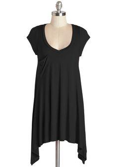 A Crush on Casual Tunic in Black   Mod Retro Vintage Short Sleeve Shirts   ModCloth.com