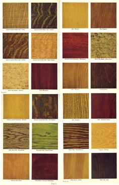 Woodwork stain options from 1915 house interior woodwork brochure