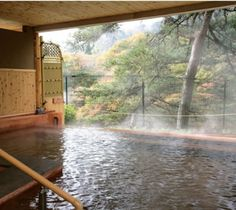 I want my own onsen in my dream home! Japanese Bath, Japanese House, Japan Onsen, Japanese Hot Springs, Japan Country, Backpacking Trips, Outdoor Baths, Go To Japan, Passport Stamps