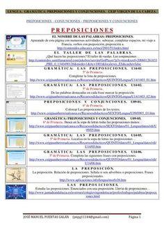 enlaces preposiciones y conjunciones