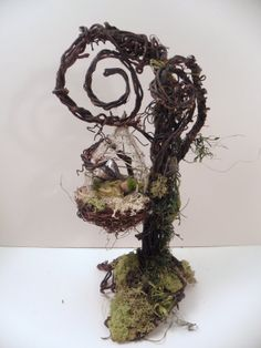 ooak pose-able new life FAIRY TREE w / sleeping pixie art doll by DinkyDarlings
