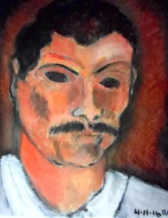 mexican gardener oil painting