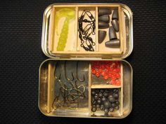 Altoid pocket tackle Box. Huck Finn fished with just a stick and a string. So while having a full-sized tackle box is nice, it's certainly not necessary. Especially if you're going backpacking and want to try your hand at catching your own dinner along the way.