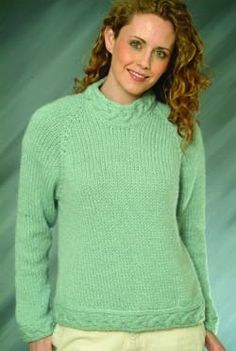 383a34a43 Top Down Ladies Pullover in Plymouth Yarn Baby Alpaca Grande - F-IN83 Free