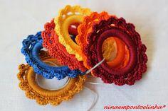 ... Ninaempontoelinha ...: Argolas para guardanapos em croché